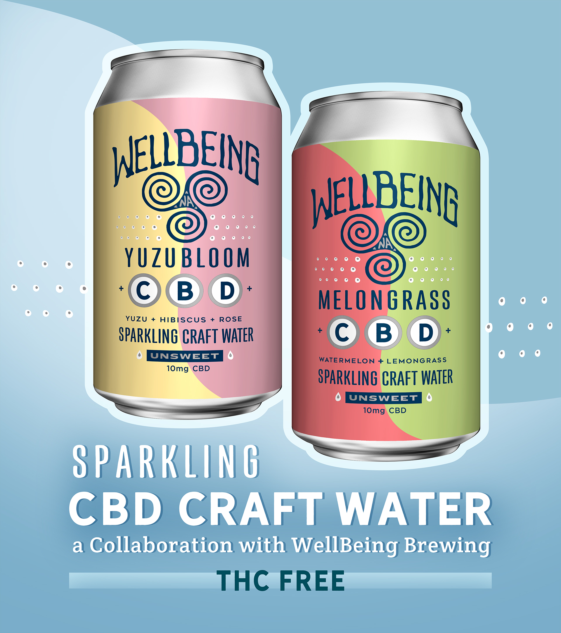 WellBeing CBD Sparkling Craft Waters